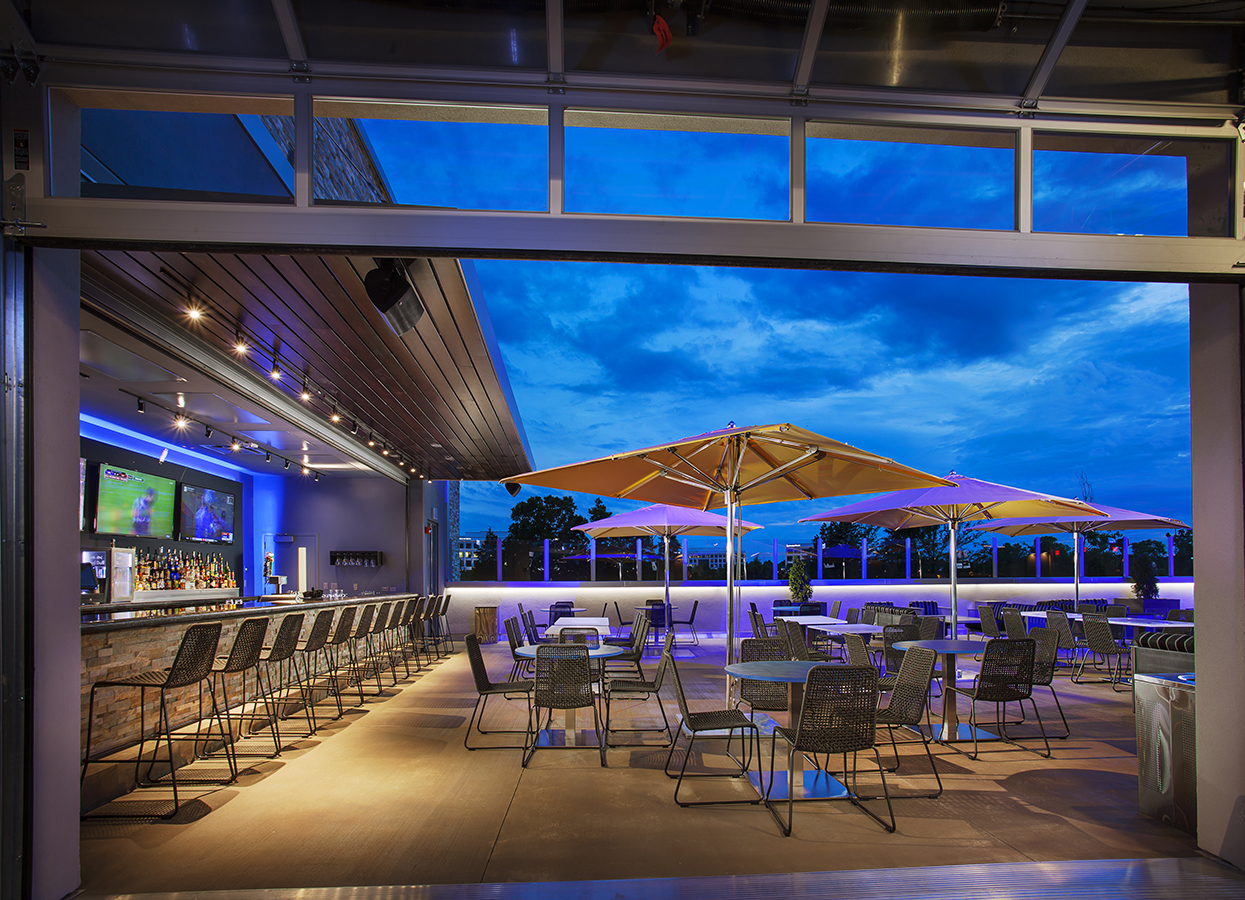 Photos videos and virtual tours topgolf for Terrace restaurant charlotte