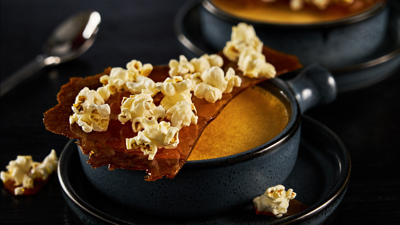 Popcorn Creme Brulee