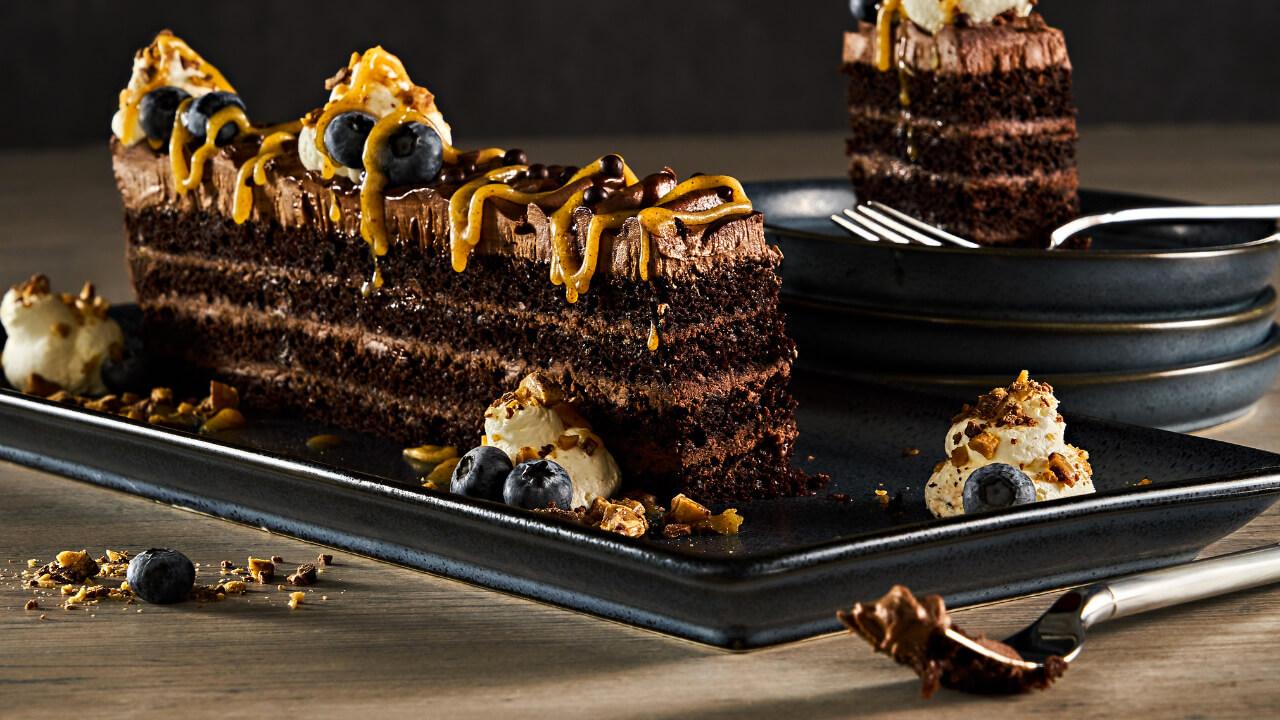 Triple Chocolate Long Slice
