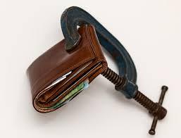 a wallet, clamped shut