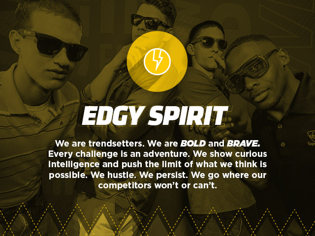 Core Value - Edgy Spirit