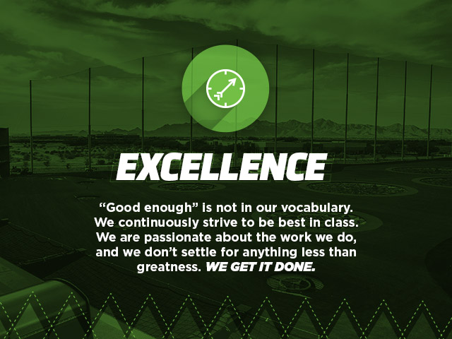 Core Value - Excellence