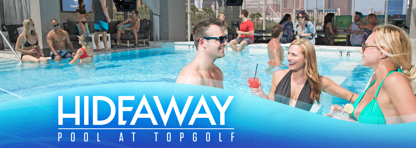 Pool and Cabanas at Topgolf Las Vegas