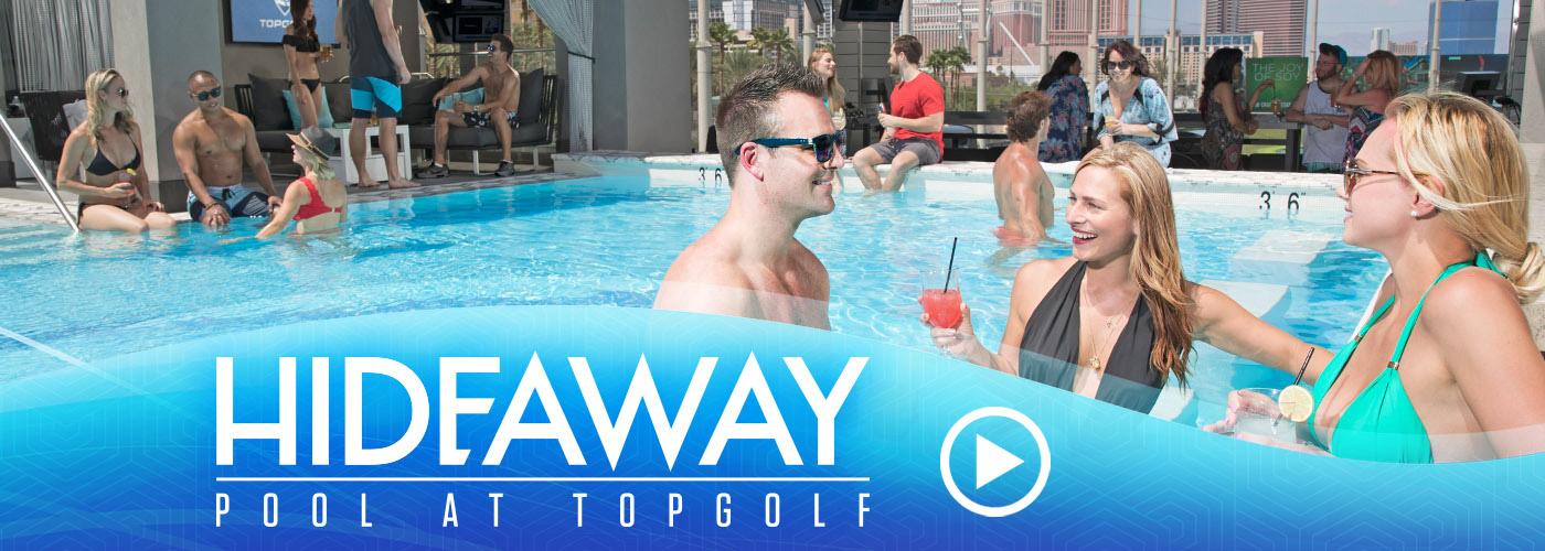 Watch: Hideaway Pool at Topgolf Las Vegas